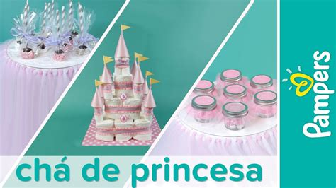 diy decoracao de cha de bebe tema de princesa pampers