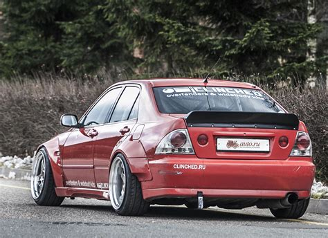 lexus is300 widebody clinched lexus is300 toyota altezza widebody kit
