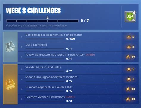 fortnite week 5 challenges fortnite season 5 week 3 challenges fortnite insider