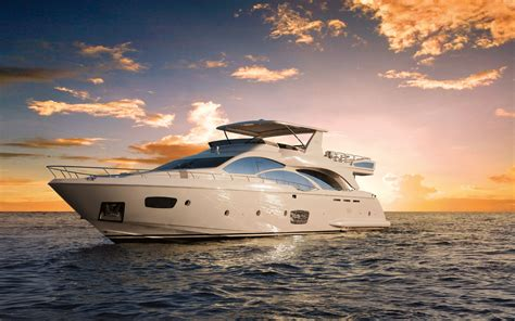 Luxury Boats azimut 95 luxury yacht at the miami international boat