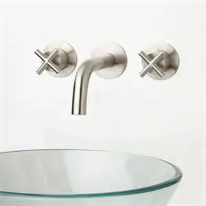 Cross Handle Bathroom Faucet Wall Mount