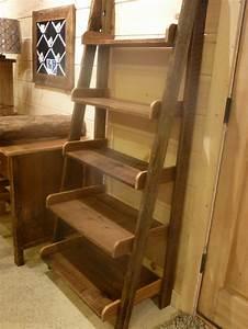 Farmhouse Ladder Shelf - Fence Row Furniture