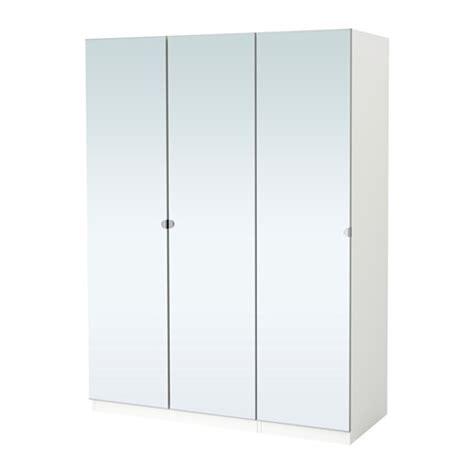 pax wardrobe white vikedal mirror glass 150x60x201 cm ikea