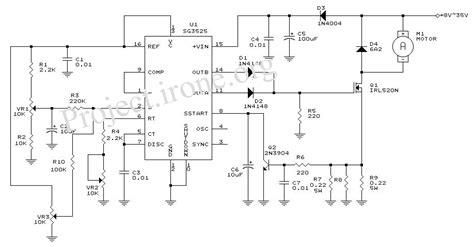 sg3525 pwm dc motor circuit repository circuits 37530 next gr