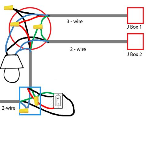 electrical wiring existing 3 way switch in basement