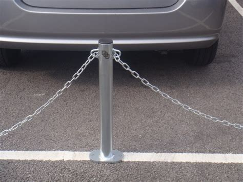 chain posts zinc concrete fixed eyelet down coated sturdy metal bolt barriers plastic direct barriersdirect sb