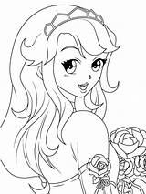 Coloring Pages Manga Print Animated sketch template