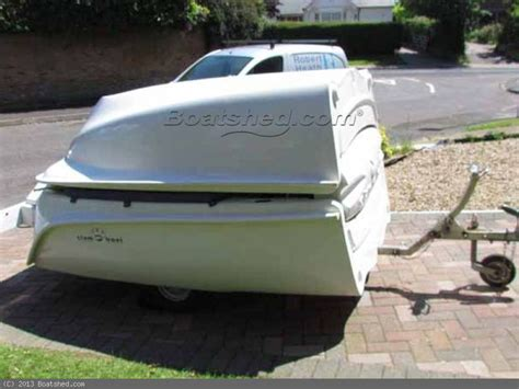 Fold Up Boat Trailer Plans by Clamboat Mk11 Folding Boat With Inbuilt Trailer Boats