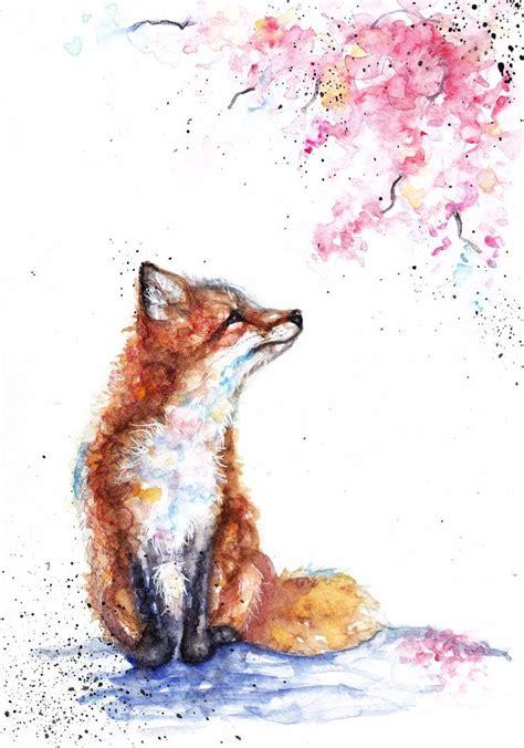 drawingnk peinture renard aquarelle de renard