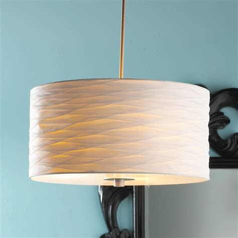 pintuck pleated silk drum shade pendant l shades by