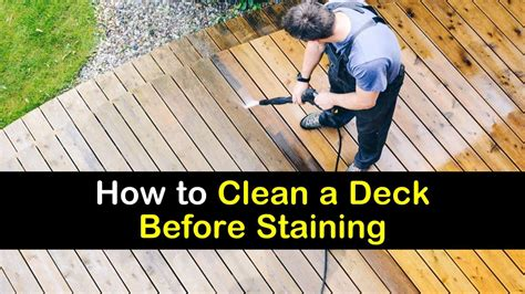 clean  deck  staining