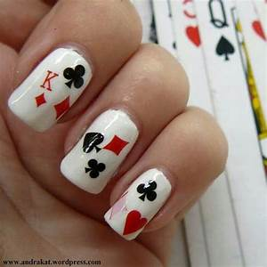 Playing Card Nail Art | www.imgkid.com - The Image Kid Has It!