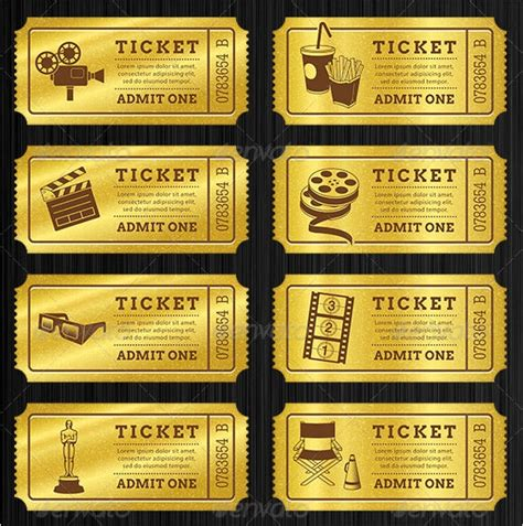 sample blank ticket templates  ai indesign