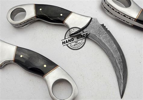 boker kitchen knives damascus karamabit edge knife custom handmade damascus