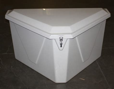 dock boxes unlimited triangular fiberglass storage box ebay
