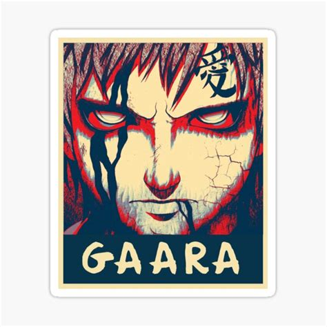 gaara stickers redbubble