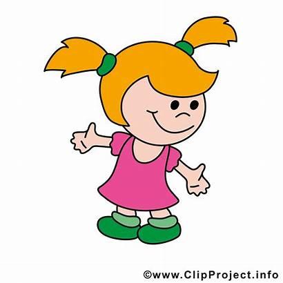 Lustige Kinderbilder Maedchen Clipart Cliparts Enfant Fille