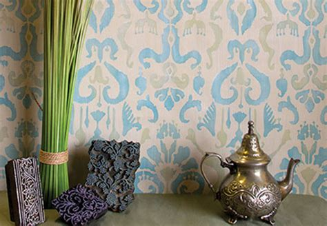 stencil   ikat fabric effect  chalk paint
