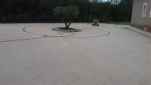 Béton Désactivé Gris : refection d 39 une cour de villa en beton desactive a saint ~ Melissatoandfro.com Idées de Décoration