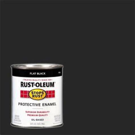 rust oleum stops rust 1 qt flat black protective enamel