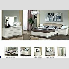 New Stunning Modern Lucio White Italian High Gloss Bedroom