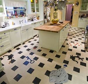 Linoleum Kitchen - Crazy Fun - Contemporary - Kitchen