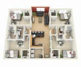 floors and decor plano planos para apartamentos con 4 habitaciones