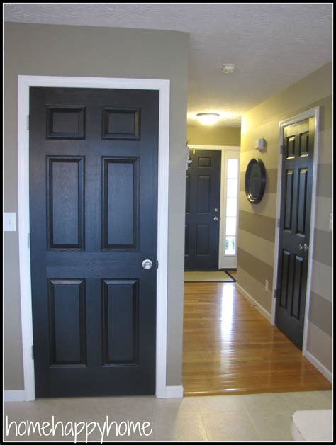Home Happy Home Black Painted Interior Doors  Paint