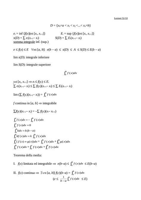 dispense matematica generale somme integrali dispense
