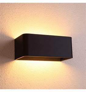 Appliques Murales Noires : lampe murale tr s moderne led luminaire moderne quadra ~ Edinachiropracticcenter.com Idées de Décoration