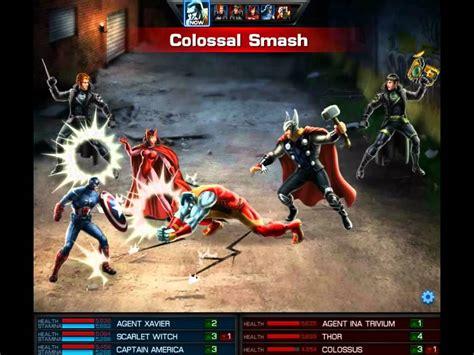 marvel avengers alliance  pvp team youtube