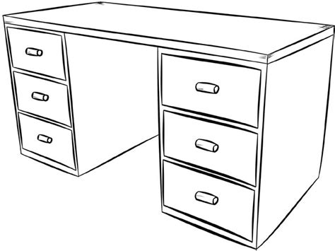 bureau table à dessin dessins de meubles à colorier