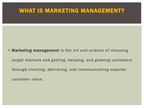 What S Marketing by Basic Marketing Management