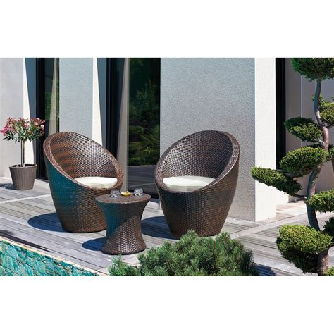 salon de jardin tresse leroy merlin salon bas de jardin totem r 233 sine tress 233 e chocolat 1 table 2 fauteuils leroy merlin