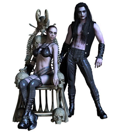 couple gothic girl  image  pixabay