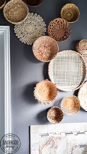 Browse furniture, home decor, cookware, dinnerware, wedding registry and more. creative vintage basket wall art display gallery-1 - Salvaged Living