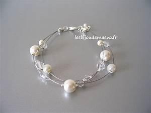 bracelet mariee pas cher ivoire et cristal 3 rangs With bijoux fantaisie mariee