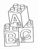 Blocks Coloring Lego Printable Printables Activity sketch template