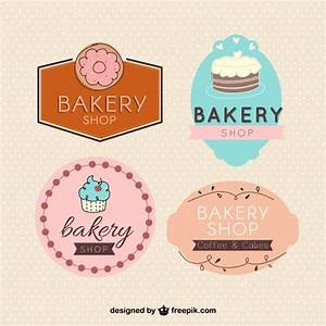Variety Of Cute Bakery Badges Vector Free Download