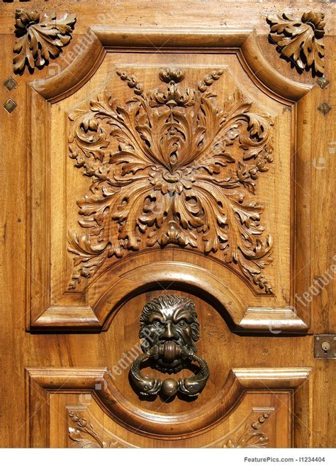 architectural details ancient wooden carved door stock image   featurepics