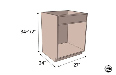 how to build cabinet carcass 27in sink base cabinet carcass frameless rogue engineer