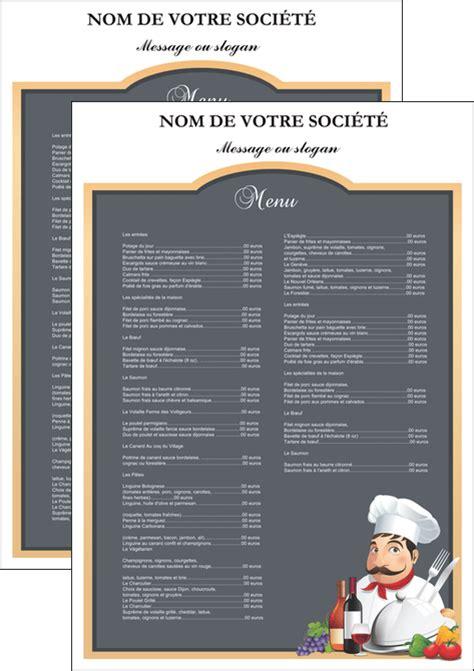 cuisiner poivrons affiche modèle et exemple menu restaurant restaurant