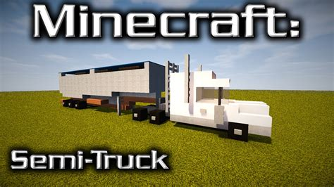 minecraft truck stop minecraft semi truck tutorial designed by yazur youtube