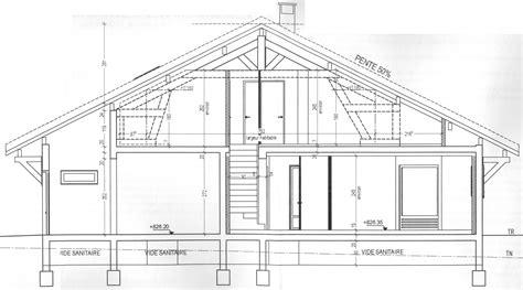 plan en coupe dune maison maison moderne
