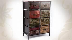 Commode Bois Metal : commode 8 tiroirs de style industriel en bois et m tal ~ Teatrodelosmanantiales.com Idées de Décoration