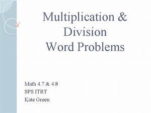 Multiplication  U0026 Division Word Problems Presentation For