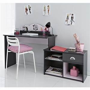 Bureau Enfant Fille : bureau enfant flora gris ~ Teatrodelosmanantiales.com Idées de Décoration
