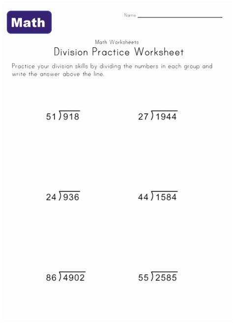 Division Worksheets » Printable Long Division Worksheets  Printable Worksheets Guide For