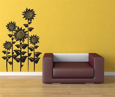 home decor wall sunflower decor sunflowers floral wall decal flower