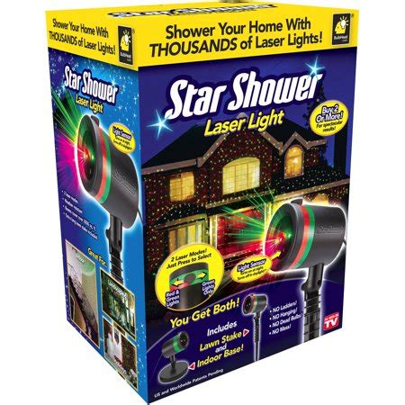 star shower christmas lights battery as seen on tv shower laser walmart